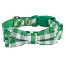 Petco Dog Beds by Bond U0026 Co Green Gingham Bowtie Dog Collar Petco