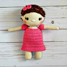The Friendly Mae Doll Is A Free Crochet Doll Pattern About 9 Inches