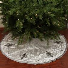 CC Christmas Decor 56 Elegant Cream And Charcoal Gray Beaded Sequin Velveteen Tree