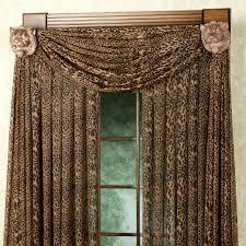 Leopard Stripe Tailored Window Panel