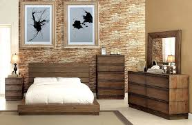Low Profile Bed with Plank Panel Headboard FA23
