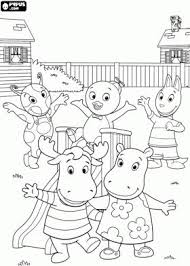 The Backyardigans Buddies In Their Garden Coloring Page