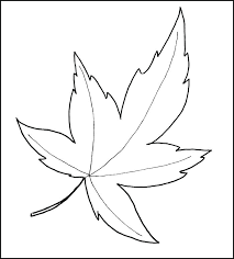 Autumn Leaf Template Printable Fall Pattern Free Leaves Coloring Pages