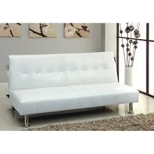 Furniture Of America Fabric Convertible Futon With Side ...