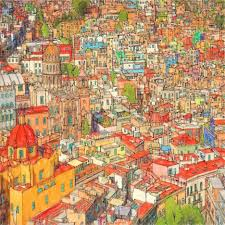 Fantastic Filled In Color This Book Steve Selected Scenes From Major Cities Like New York