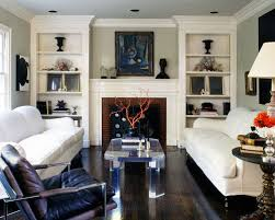 Living Room With Fireplace And Bookshelves by Bookshelves Fireplace Houzz