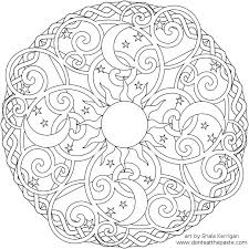 Dont Eat The Paste Celestial Mandala Box Card And Coloring Page PrintablePrintable ArtFree
