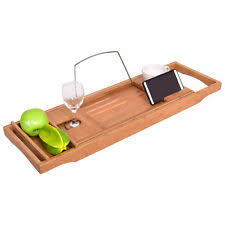 Bamboo Bathtub Caddy With Reading Rack by Bathtub Caddies Ebay