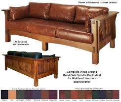 Mission Style Furniture Gorgeous Leather Sofa Oak Used