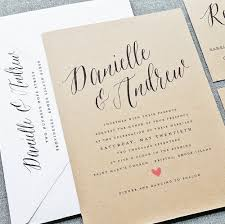 Invitation Letter For Wedding Party Inspirationalnew Danielle Rustic Sample On Recycled Kraft