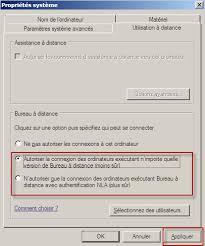 autoriser bureau a distance windows server 2008 rdp et windows firewall désactivé
