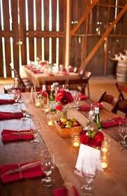 Rustic Red Wedding Theme