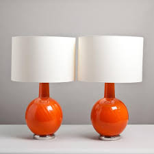 table lamps colored glass table lamps orange glass table