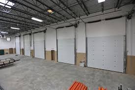 Inside Karon Masonry s warehouse Insulated mercial garage