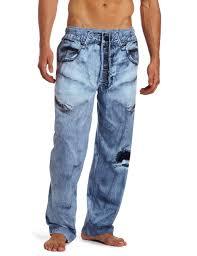 amazon com mjc international men u0027s generic faux denim pajama pant