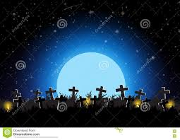 Halloween Cemetery Fence For Sale by Halloween Graveyard With Moon Background Vector Illustration Stock