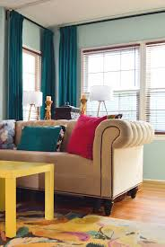 Ikea Sanela Curtains Dark Turquoise by How To Triple Pinch Pleat Curtains With Ikea Hardware Visual
