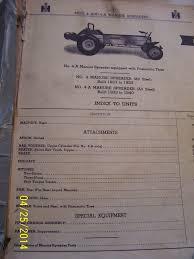 VINTAGE INTERNATIONAL Parts Manual - Manure Spreaders- 1956 - $19.99 ...