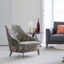 100 Contemporary Armchair Armchair Velvet Cotton Linen EMILIA BERTO SALOTTI