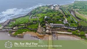 100 Birdview Diu Fort Bird View The Fort Of Diu Has A Spectacular 180degree
