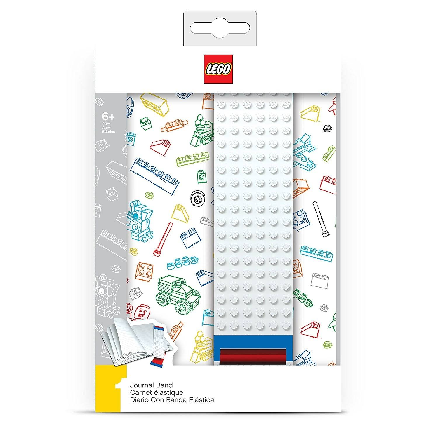 LEGO Journal - with Building Band, White