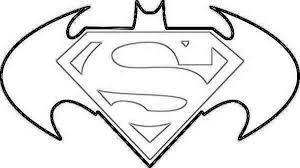 Superhero Symbol Coloring Page