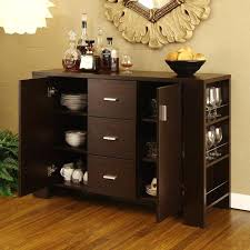Modern Dining Room Buffet Wine Sideboard Server With Hutch Credenzas And Buffets