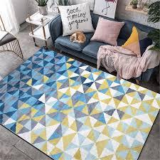 wishstar blau gelb geometrische muster 3d teppich nordic rechteck bereich teppiche für home wohnzimmer schlafzimmer teppich