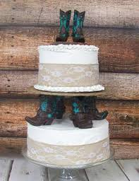 Rustic Cake Topper His And Her Western Cowboy Boots Wedding Barn