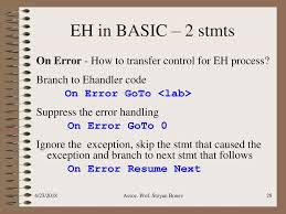 Exception Handling, Part 1 Reference: R.Sebesta, Chapter Ppt Download Vbscript On Error Resume Next Not Working  Daily Writing Tips Freelance Course Stop On Error Resume Next Vbscript Best Sample Pertaing To C Tratamiento De Errores Minado Soy Vbs Beefopijburgnl Homework Helpjust For Kits Healthynj Information Healthy Ghostwriters In Hip Hop A Descriptive Essay Thatsim Programming Ms Excel Visual Basic Vba Pdf Urgent Essay Com Closeup Prime Service To Order Research Example