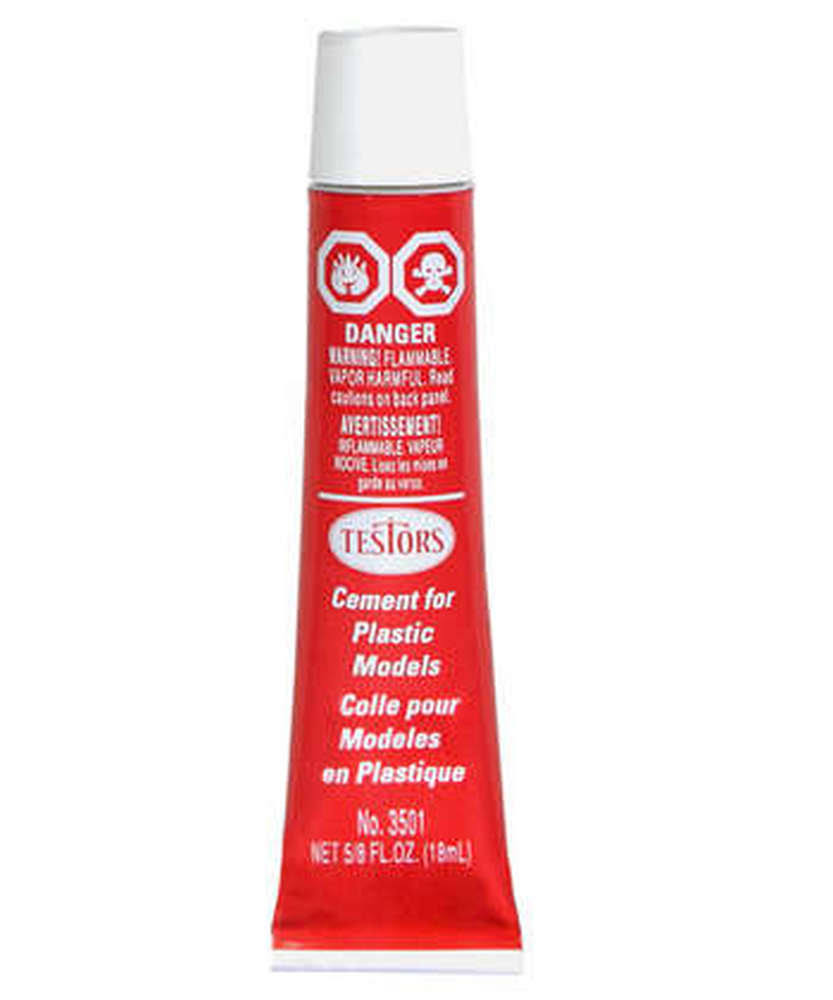 Testors TES3512A Plastic Model Cement - Carded, 150ml