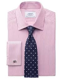 classic fit egyptian cotton textured stripe pink shirt charles