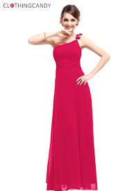 shoulder pink simple evening gown
