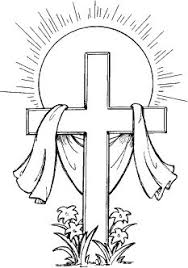 Easter Cross Clipart Black And White Easter Day