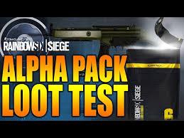 siege test rainbow six siege in depth alpha pack loot test r6central com