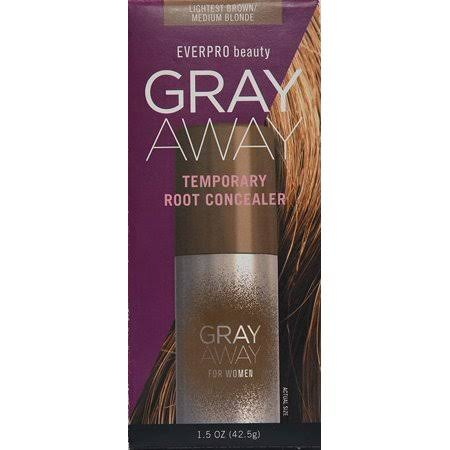 Everpro Gray Away Lightest Temporary Root Concealer - Brown/Medium Blonde, 1.5oz