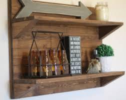 rustic shelf etsy