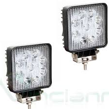 100 Lighthouse Truck And Auto 2X Square LED Spotlight 9 LED Auto Car Jeep Amazoncouk