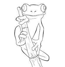Frog Coloring Pages Free Animated Clip Art