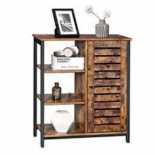 vasagle kommode schrank küchenschrank sideboard mit 3 ablagen und schrank badezimmerschrank im industrie design flurregal wohnzimmer