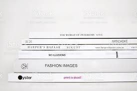 Fashion Magazine Stack On White Background Royalty Free Stock Photo