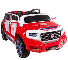 100 Kids Electric Truck 4Door Ride On Two Seater Fire Toy Car For 12V