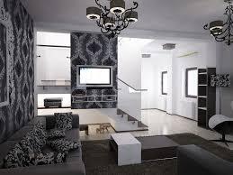 bilder 3d interieur wohnzimmer schwarz weiß valea lupului 4