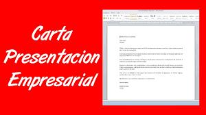 Como Hacer Una Carta De Presentación Empresarial YouTube