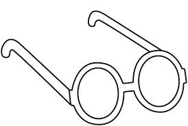 Eyes John Lennon Eyeglasses Colouring Page