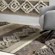 rechteckiger teppich aus wolle baumwolle und viskose für modernes wohnzimmer zorro