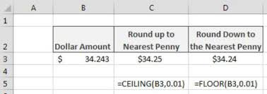 Ceiling Function Excel Example by Formulas For Rounding Numbers In Excel Dummies