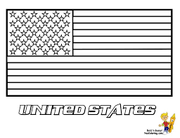 United States Of America Flag Coloring Page SEE The Official Photograph To