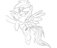 My Little Pony Coloring Pages Rainbow Dash Mermaid
