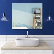 zweitüriger spiegelschrank bad hängeschrank badspiegelschrank mit steckdose stahl hbt 50 x 60 x 18cm weiß